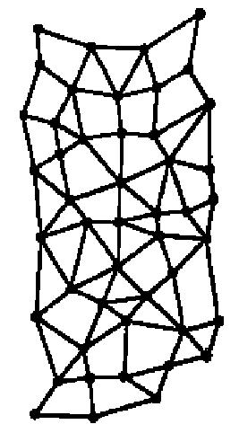 شكل 3 الشبكة المقترحة من قبل باران والمشابهة للشبكات الحالية